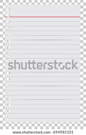 Loose Leaf Paper Your Background Element Stock Vector 694985101 - loose leaf paper background