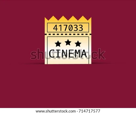 Vector Yellow Cinema Ticket Number On Stock Vector 714717577 - entry ticket template