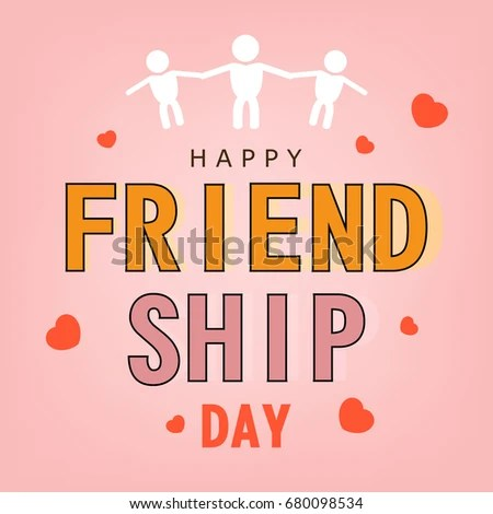 Happy Friendship Day Greeting Card Based Stock Vector HD (Royalty