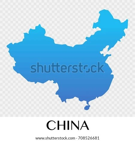 China Map Asia Continent Illustration Design Stock Vector 708526681