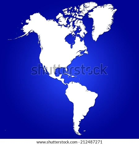 American Continent North Central South America Stock Illustration