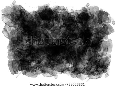 Abstract Black Watercolor Background Gray Watercolor Stock