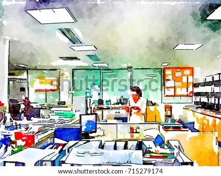 Salaryman Administrative Clerk Officer Manager Operator Stock