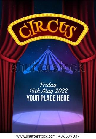 Circus Show Poster Template Sign Light Stock Photo (Photo, Vector