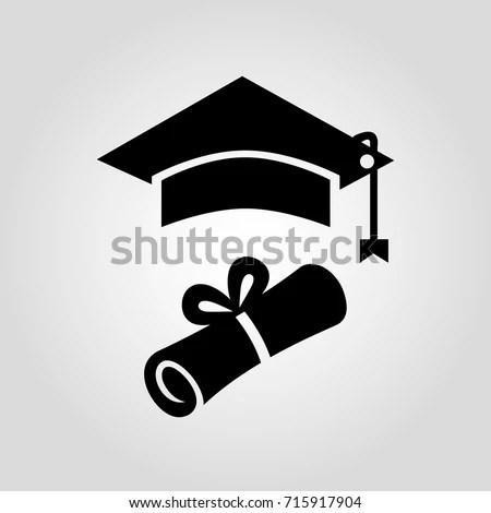 Certificate Diploma Paper Square Graduation Cap Stock Vector - Graduation Certificate Paper