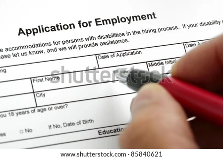Completing Job Application Form Focus On Stock Photo  Image