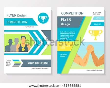 Sports Competition Flyer Template Winner Partnership Stock Vector - competition flyer template