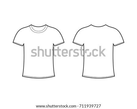 Blank Tshirt Template Vector Stock Vector 711939727 - Shutterstock - t shirt template