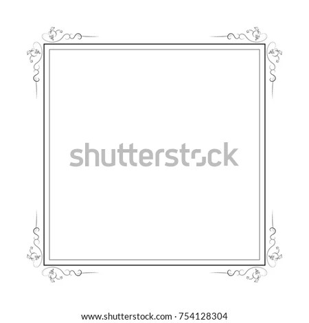 Square Nature Frame Leafs Decorative Vintage Stock Vector HD - frame for cards