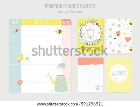 Cute Calendar Daily Planner Template Beautiful Stock Vector - daily organizer template