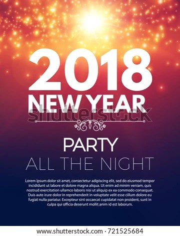 Happy New 2018 Year Party Poster Stock Vector (2018) 721525684 - new year poster template