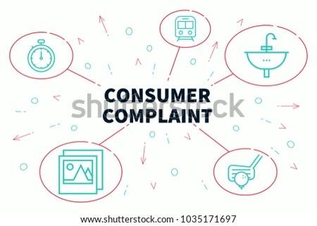 Conceptual Business Illustration Words Consumer Complaint Stock