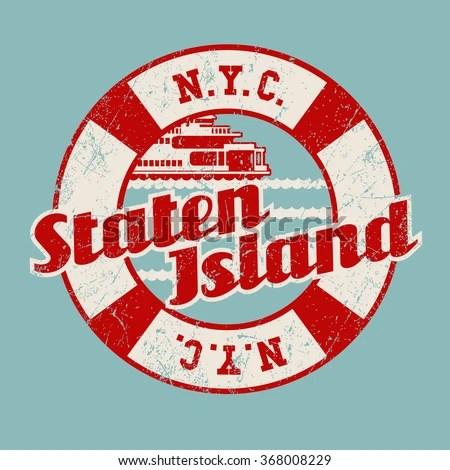 Staten Island Ferry Stock Vectors & Vector Clip Art