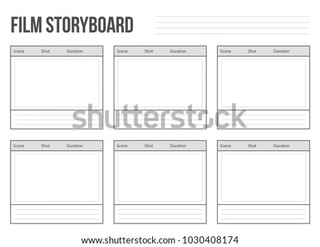 Creative Vector Illustration Professional Film Storyboard Stock