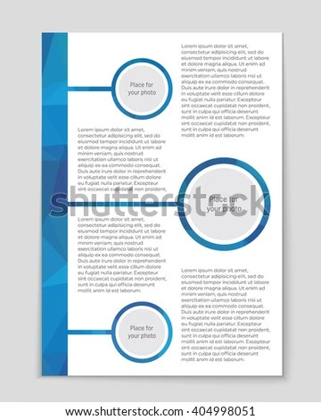 Abstract Vector Layout Background Web Mobile Stock Vector - blank sign in sheet