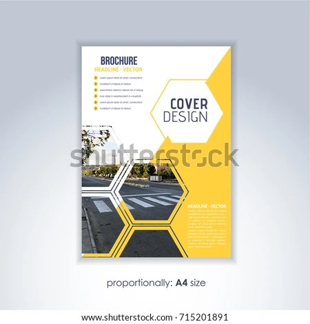 Corporate Leaflet Textbook Cover Image Add Stock Vector (Royalty - free pamphlet design