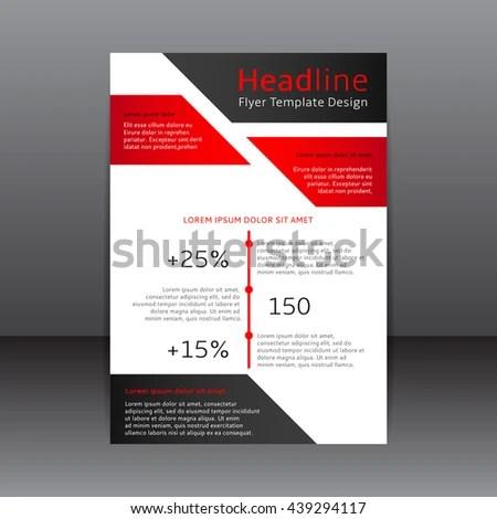 Vector Design Red Black White Flyer Stock Vector (2018) 439294117