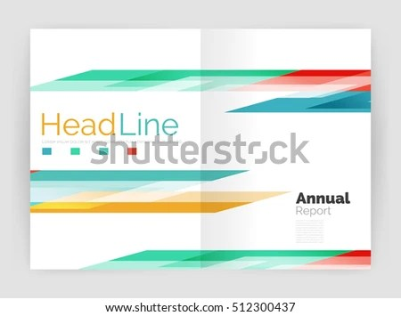 Geometric Business Annual Report Templates Modern Stock Illustration