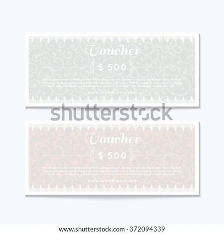 Gift Coupon Gift Card Discount Card Stock Vector 162007385 - money coupon template