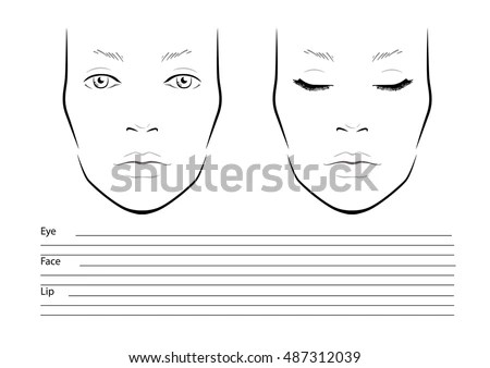 Makeup Chart Stock Images, Royalty-Free Images \ Vectors - eye chart template
