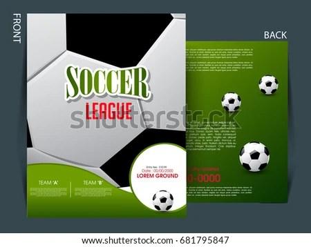 Soccer Event Flyer Template Eps 10 Football Stock Vector 681795847