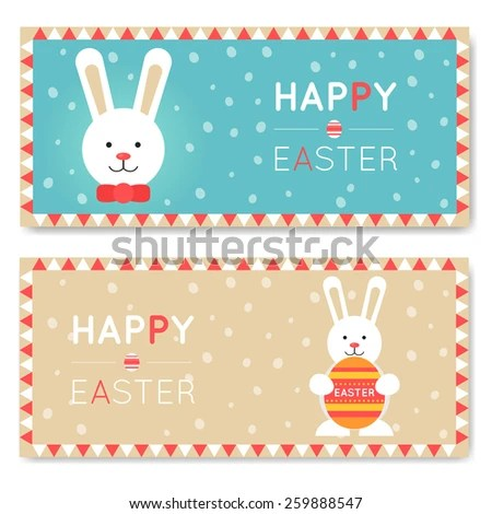 Happy Easter Greeting Cards Templates Easter Stock Vector 259888547