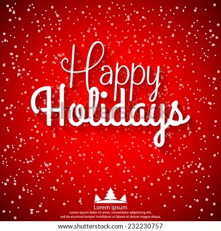 Happy Holidays Vector Illustration Holiday Design Stock Vector HD - free images happy holidays