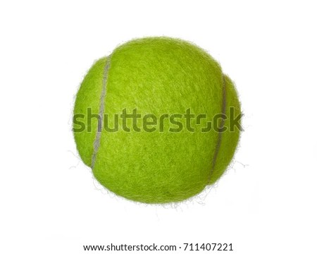 New Tennis Ball Isolated On White Stock Photo (Royalty Free - why is there fuzz on a tennis ball