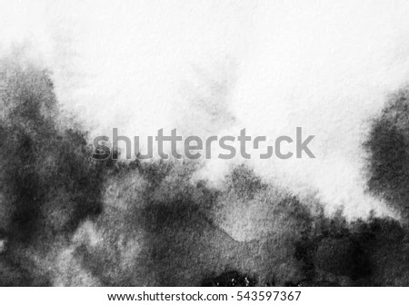 Abstract Black White Ink Painting On Stock Illustration 543597367