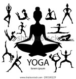 Vector Silhouettes Yoga Poses