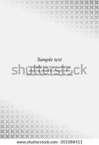 Page Corner Design Template Invitation Greeting Stock Photo (Photo