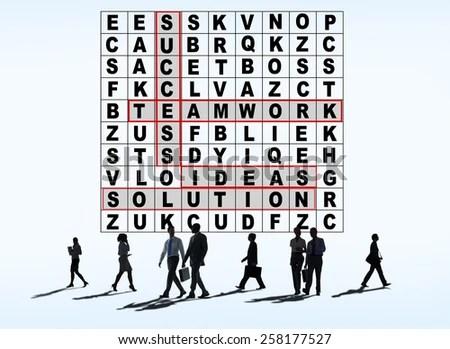 Success Crossword Puzzle Words Achievement Game Stock Photo (Royalty - words for achievement