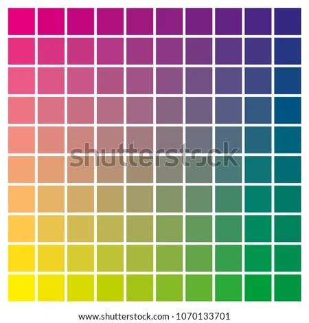 Cmyk Color Chart Use Prepress Printing Stock Vector (2018