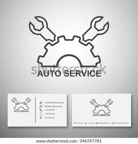 Car Service Logo Business Card Templatevector Stock Vector (2018