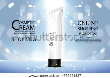 Luxury Cosmetic Bottle Package Skin Care Stock Vector 772441627 - product poster