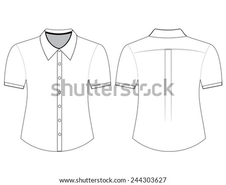 Blank Shirt Short Sleeves Template Men Stock Photo (Photo, Vector