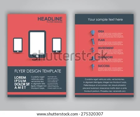 Design Business Flyers Brochures Covers Flat Stock Vector (Royalty - sample business flyers