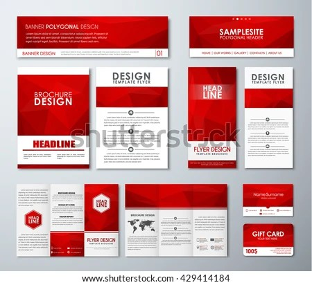 Design Polygonal Banners Flyers Gift Cards Stock Vector 429414184