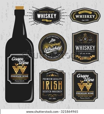 Bottle Label Stock Images, Royalty-Free Images \ Vectors - free wine bottle label templates