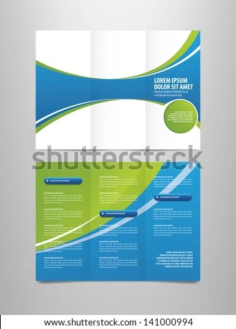 Tri Fold Business Brochure Template Stock Vector (2018) 141000994
