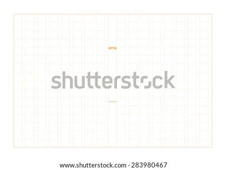 Japanese Manuscript Paper Grid Called Genko Stock Vector 283980467