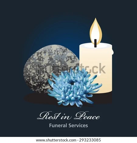 Funeral Ceremony Invitation Card Vector Template Stock Vector - funeral ceremony invitation