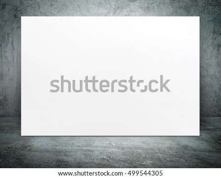 Blank Long White Paper Poster Canvas Stock Photo 526070761 - white paper template