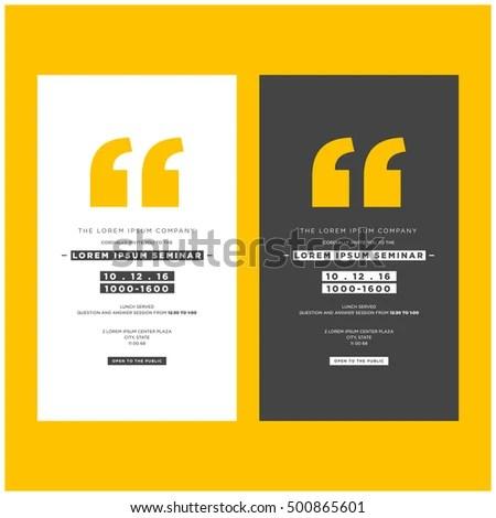 Business Seminar Invitation Design Template With Stock Vector
