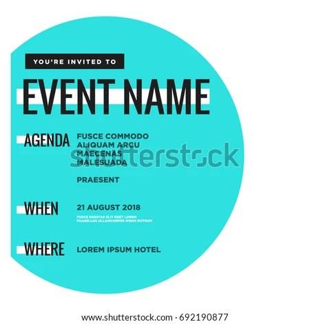 Event Invitation Template Agenda Venue Date Stock Vector HD (Royalty