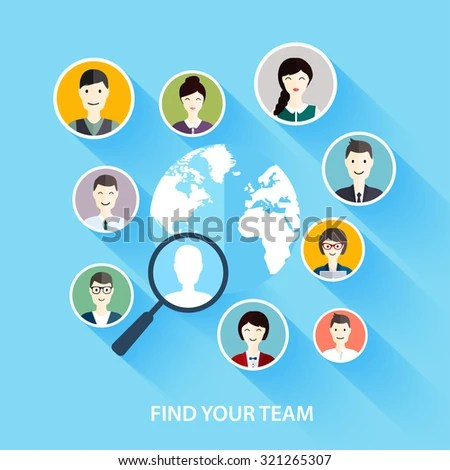 Job Search Career Human Resources Management Stock Vector 321265307 - how to find a head hunter