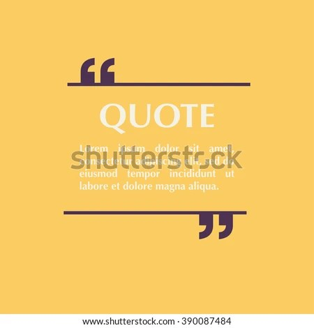Quote Blank Template Design Elements Circle Stock Vector 390087484 - graphic design quote template