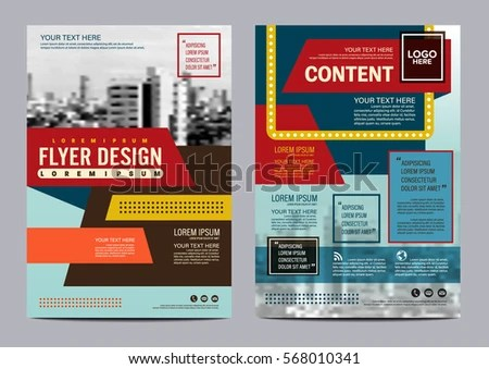Retro Brochure Layout Design Template Annual Stock Vector (2018