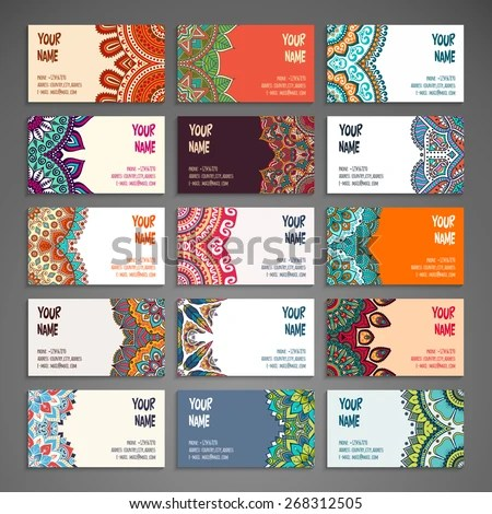 stock-vector-business-card-vintage-decorative-elements-hand-drawn - contract important elements