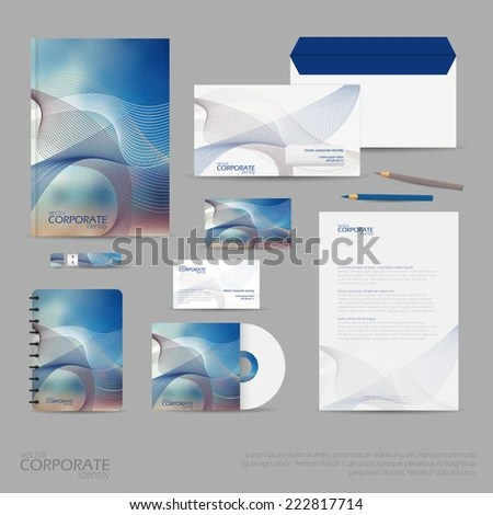 Brand Identity Company Style Template Demonstrated Stock Vector